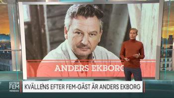 Permalänk till: Anders gäst i Efter fem på TV4